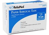 ReliaMed Paper Surgical Tape 1/2