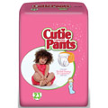 Cuties Refastenable Training Pants for Girls 2T-3T, up to 34 lbs.
